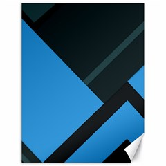 Lines Textur  Stripes Blue Canvas 18  X 24   by AnjaniArt