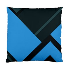 Lines Textur  Stripes Blue Standard Cushion Case (two Sides)