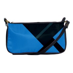Lines Textur  Stripes Blue Shoulder Clutch Bags by AnjaniArt