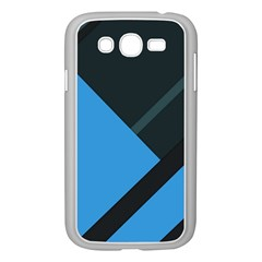 Lines Textur  Stripes Blue Samsung Galaxy Grand Duos I9082 Case (white) by AnjaniArt
