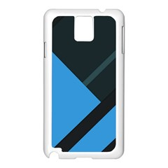 Lines Textur  Stripes Blue Samsung Galaxy Note 3 N9005 Case (white) by AnjaniArt