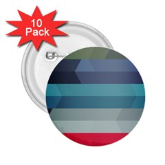 Line Light Stripes Colorful 2 25  Buttons (10 Pack)