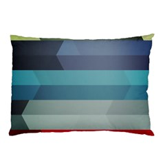 Line Light Stripes Colorful Pillow Case