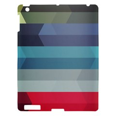 Line Light Stripes Colorful Apple Ipad 3/4 Hardshell Case by AnjaniArt