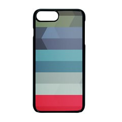 Line Light Stripes Colorful Apple Iphone 7 Plus Seamless Case (black) by AnjaniArt