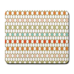 Lab Pattern Hexagon Multicolor Large Mousepads by AnjaniArt
