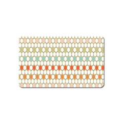 Lab Pattern Hexagon Multicolor Magnet (name Card)