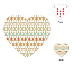 Lab Pattern Hexagon Multicolor Playing Cards (heart)  by AnjaniArt