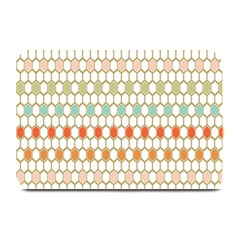 Lab Pattern Hexagon Multicolor Plate Mats by AnjaniArt