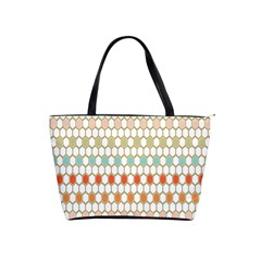 Lab Pattern Hexagon Multicolor Shoulder Handbags by AnjaniArt
