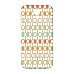 Lab Pattern Hexagon Multicolor Samsung Galaxy S4 I9500/i9505  Hardshell Back Case by AnjaniArt