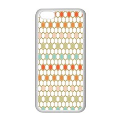 Lab Pattern Hexagon Multicolor Apple Iphone 5c Seamless Case (white)