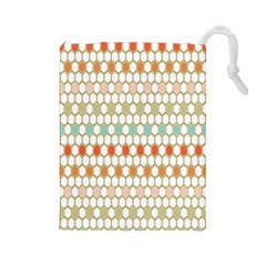 Lab Pattern Hexagon Multicolor Drawstring Pouches (large)