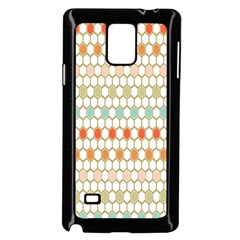 Lab Pattern Hexagon Multicolor Samsung Galaxy Note 4 Case (black) by AnjaniArt
