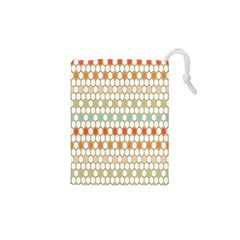 Lab Pattern Hexagon Multicolor Drawstring Pouches (xs)  by AnjaniArt
