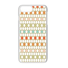 Lab Pattern Hexagon Multicolor Apple Iphone 7 Plus White Seamless Case by AnjaniArt