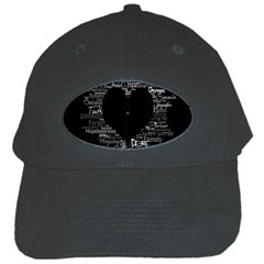 Love Valentine Day Black Cap by AnjaniArt
