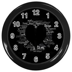 Love Valentine Day Wall Clocks (black) by AnjaniArt
