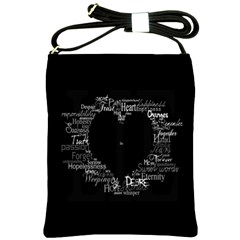 Love Valentine Day Shoulder Sling Bags by AnjaniArt