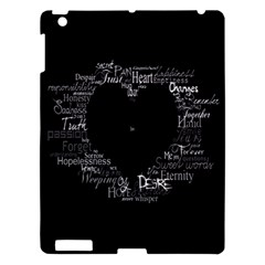 Love Valentine Day Apple Ipad 3/4 Hardshell Case by AnjaniArt