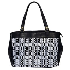 Line Black Office Handbags by AnjaniArt