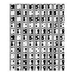 Line Black Shower Curtain 60  X 72  (medium)  by AnjaniArt
