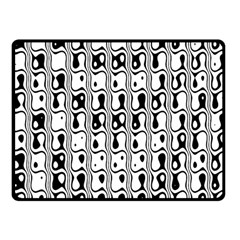 Line Black Double Sided Fleece Blanket (small)