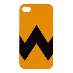 Minimal Modern Simple Orange Apple Iphone 4/4s Hardshell Case