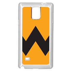 Minimal Modern Simple Orange Samsung Galaxy Note 4 Case (white) by AnjaniArt