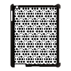 Seamless Honeycomb Pattern Apple Ipad 3/4 Case (black) by Amaryn4rt