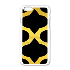 Seamless Gold Pattern Apple Iphone 6/6s White Enamel Case by Amaryn4rt