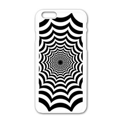 Spider Web Hypnotic Apple Iphone 6/6s White Enamel Case by Amaryn4rt