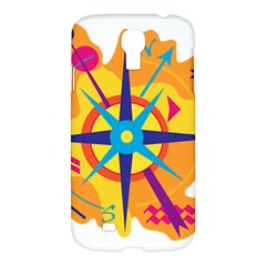 Orange Navigation Samsung Galaxy S4 I9500/i9505 Hardshell Case