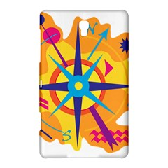 Orange Navigation Samsung Galaxy Tab S (8 4 ) Hardshell Case