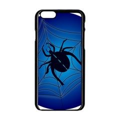 Spider On Web Apple Iphone 6/6s Black Enamel Case by Amaryn4rt