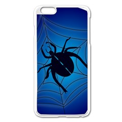 Spider On Web Apple Iphone 6 Plus/6s Plus Enamel White Case by Amaryn4rt