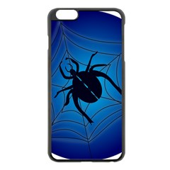 Spider On Web Apple Iphone 6 Plus/6s Plus Black Enamel Case by Amaryn4rt