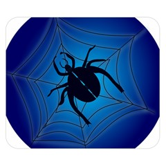 Spider On Web Double Sided Flano Blanket (small)