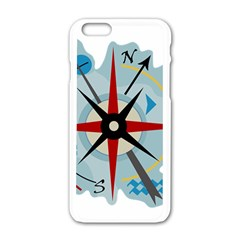 Navigation Apple Iphone 6/6s White Enamel Case by Valentinaart