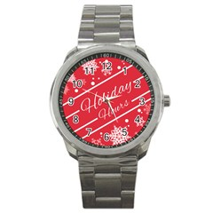 Winter Holiday Hours Sport Metal Watch