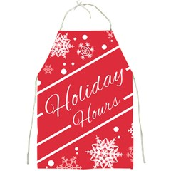 Winter Holiday Hours Full Print Aprons
