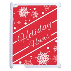 Winter Holiday Hours Apple Ipad 2 Case (white) by Amaryn4rt