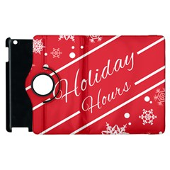 Winter Holiday Hours Apple Ipad 2 Flip 360 Case by Amaryn4rt