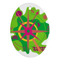 Green Navigation Ornament (oval)  by Valentinaart