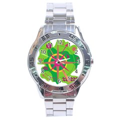 Green Navigation Stainless Steel Analogue Watch by Valentinaart