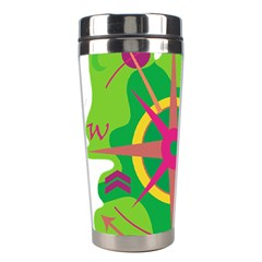 Green Navigation Stainless Steel Travel Tumblers by Valentinaart