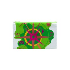 Green Navigation Cosmetic Bag (xs) by Valentinaart