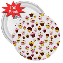 Eat Me 3  Buttons (100 Pack)  by Valentinaart