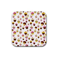 Eat Me Rubber Square Coaster (4 Pack)  by Valentinaart