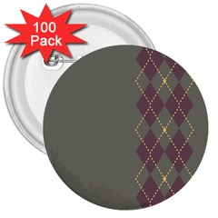 Minimalism Grey Background 3  Buttons (100 Pack)